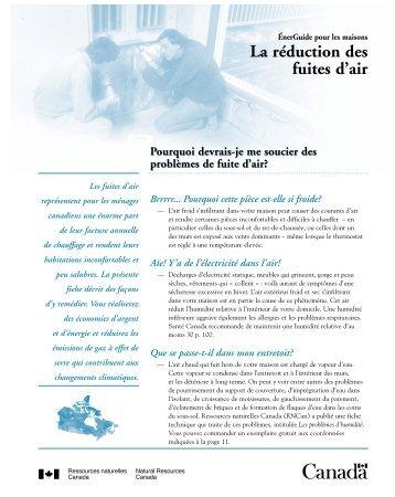 Télécharger: La réduction des fuites d'air (pdf) - Nilan