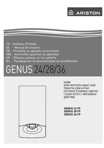 Ariston Genus 28 Ff инструкция