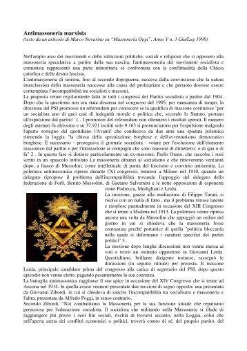Antimassoneria marxista - Gran Loggia d'Italia