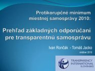 I. Rončák, T. Jacko - Transparency International Slovensko