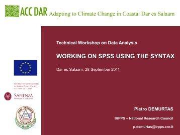 Workshop Slides, P. Demurtas 2