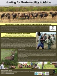 Download Tanzania Research Briefings - Hunting for sustainability