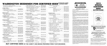 Spring 2013 Buying Guide - Washington Crop