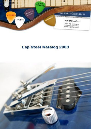 Lap Steel Katalog 2008 - MG-Guitars - Michael Götz