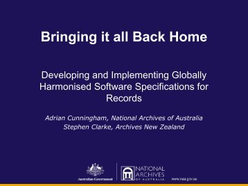 Bringing it all Back Home - Records and Information Management ...