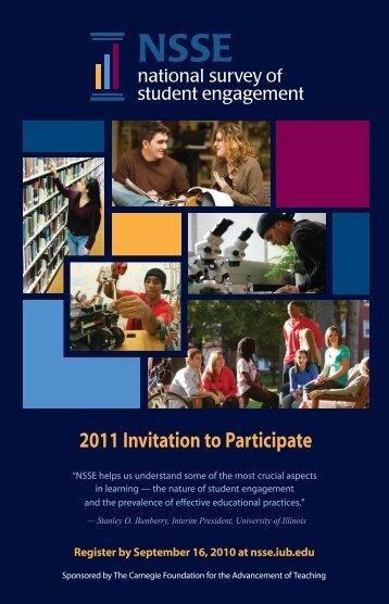 2011 Invitation to Participate - NSSE - Indiana University Bloomington