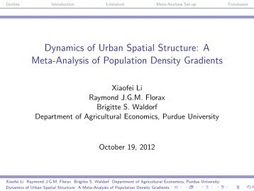 Dynamics of Urban Spatial Structure - Department of Agricultural ...