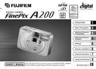 FinePix A200 Owner's Manual - Fujifilm Canada