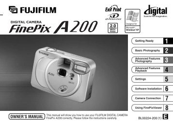 FinePix A200 Owner's Manual - Fujifilm Canada