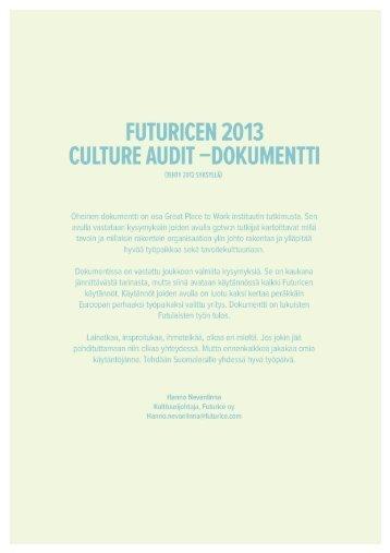 Futurice_CultureAudit_GPtW2013