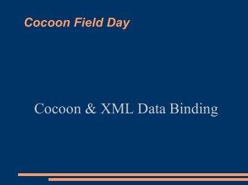 Cocoon & XML Data Binding