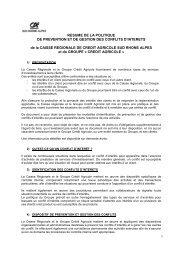 Politique de gestion des conflits d'intérêts - Crédit Agricole Sud ...