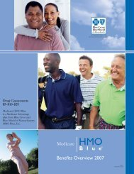 Medicare HMO Blue Group Benefit Overview - $5/$10/$25