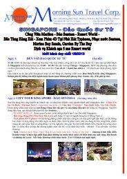 Chương trình Singapore 5 sao siêu khuyến mãi - Morning Sun Travel