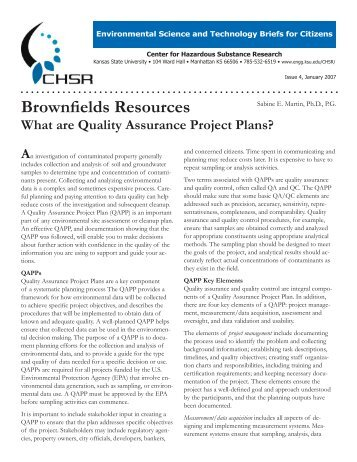 Underground injection control quality assurance project plan for Www projectplans com