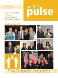 February 2013 - West Hertfordshire Hospitals NHS Trust