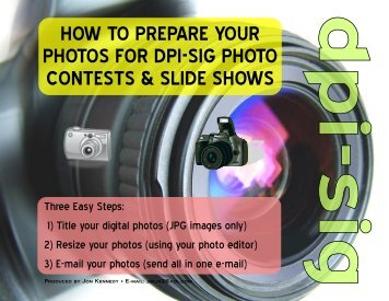 How to Prepare Your Photos
