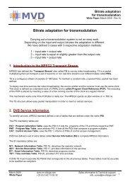 Bitrate adaptation for transmodulation - Multi Video Designs