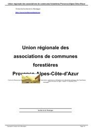 Union régionale des associations de communes forestières ...