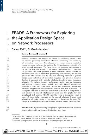 FEADS: A Framework for Exploring the Application Design Space on ...