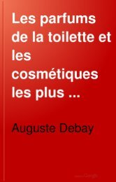 Les parfums de la toilette et les cosmétiques les plus favorables à ...