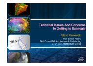 Technical Issues And Concerns In Getting to Exascale - Challenges ...