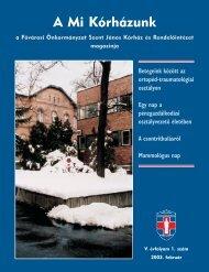 A Mi Kórházunk: 2003. február (V/1) - Szent János Kórház