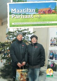 Maatilan Parhaat info 5 / 2012 - Snellman