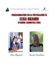 Stagione 2004 di Elisa Rigaudo - Fidal Piemonte