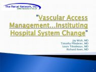 Vascular Access Management Instituting Hospital System Change
