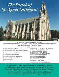 September 1, 2013 - the Parish of St. Agnes Cathedral