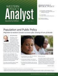 Western Policy Analyst - Quarterly Report - Johnson-Shoyama ...
