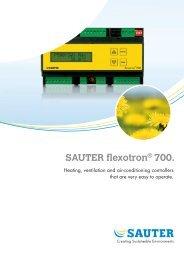 SAUTER flexotron® 700. - Sauter Automation AB