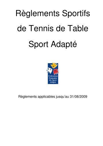 R glement rugby ffsa comit d partemental sport adapt - Comite charente tennis de table ...