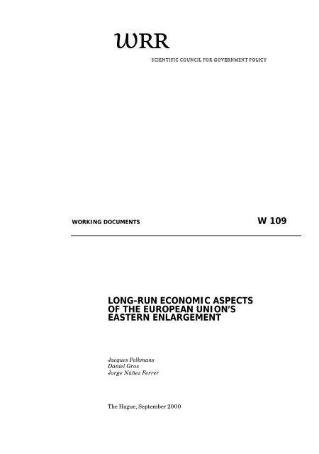w 109 long-run economic aspects of the european union's eastern ...