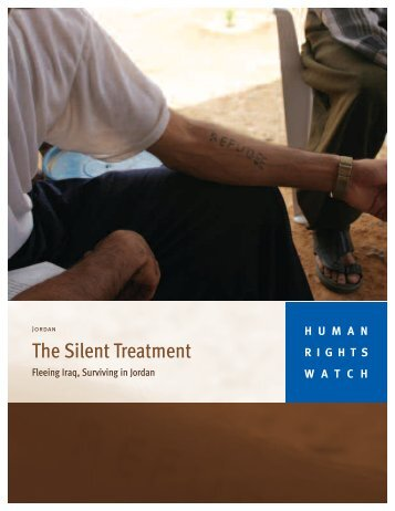The Silent Treatment - Human Rights Watch