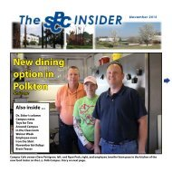 November 2012 Insider - South Piedmont Community College