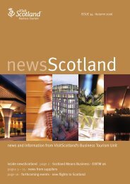 ISSUE 34 | Autumn 2006 - Scottish Convention Bureau