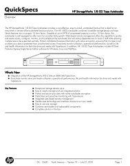 HP StorageWorks 1/8 G2 Tape Autoloader - mywebtek