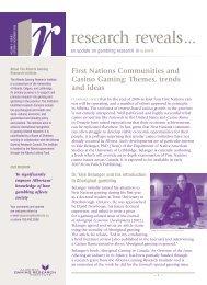 First Nations Communities and Casino Gaming - Alberta Gambling ...