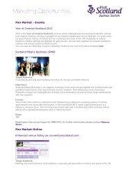 Scotland Means Business (SMB) - Scottish Convention Bureau