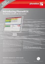 Flyer: Introducing PhoneBOX - Broadcast Bionics