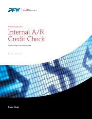 Case Study: Internal A/R Credit Check - PFW