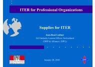 ITER for Professional Organizations Supplies for ITER - Iter Industry