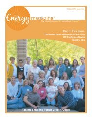 October 2006: Taking a Healing Touch Level 4 ... - Energy Magazine