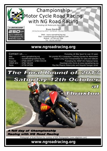 Championship Motor Cycle Road Racing with NG Road Racing
