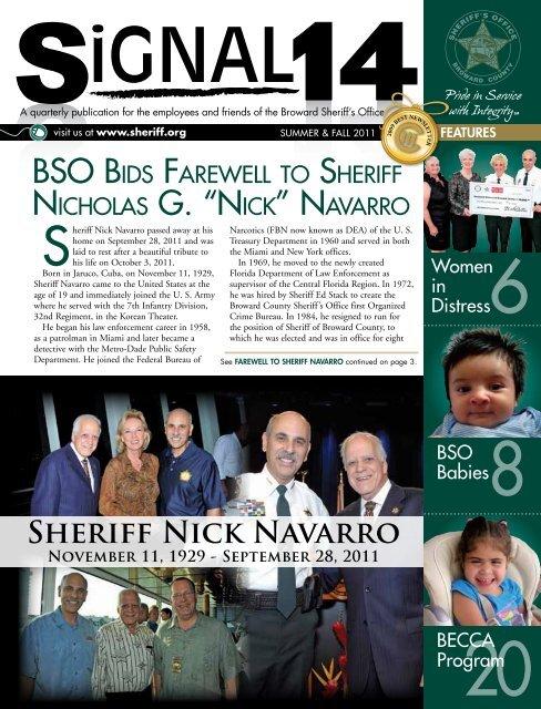 Sheriff Nick Navarro - Broward Sheriff's Office