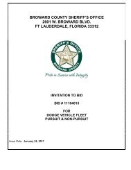 BASE SPECIFICATIONS #01 - Broward Sheriff's Office