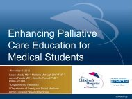 Enhancing Palliative Care Education for Medical Students - AAMC's ...