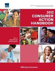 2012 COnSUmer ACTIOn HAndbOOk - USA.gov